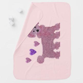 Poodle Hearts Baby Blanket