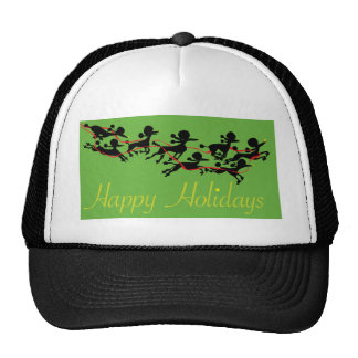 Poodle holiday trucker hat
