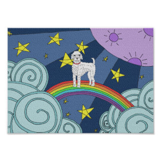 Poodle In Dreamland Poster