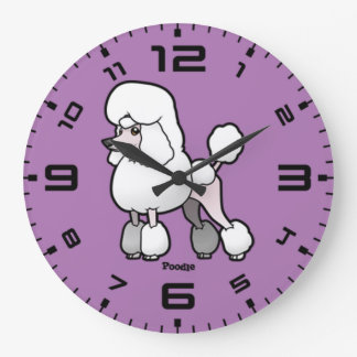 Poodle Large Clock