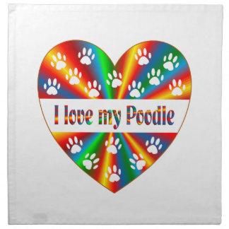 Poodle Love Napkin