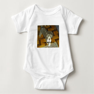 poodle love w pic silver baby bodysuit
