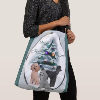 Poodle Lovers Christmas Crossbody Bag
