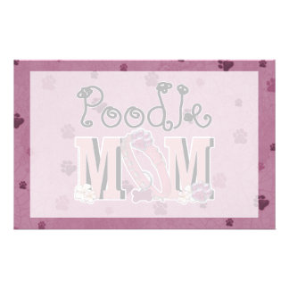 Poodle MOM Custom Stationery