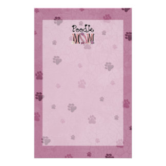 Poodle MOM Customized Stationery