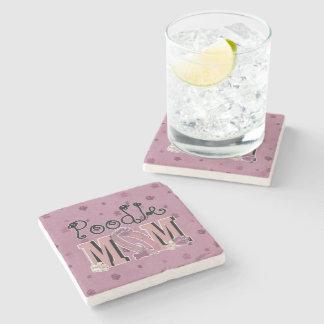Poodle MOM Stone Beverage Coaster