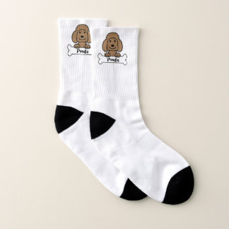 Poodle On A Bone Socks