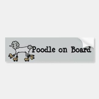 Poodle on board bumper sticker