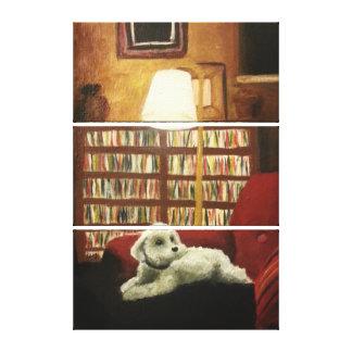 Poodle on Chair Pet Portrait Canvas Print