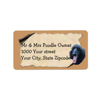 Poodle on Old Parchment II Label