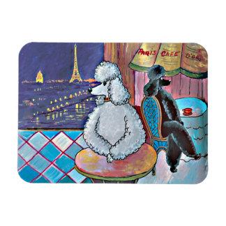 Poodle Paris Cafe Rectangular Photo Magnet