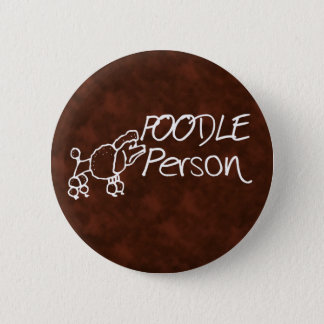 Poodle Person 2 Inch Round Button