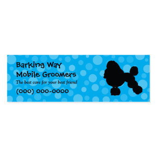 Poodle Pet Care Blue Pack Of Skinny Business Cards