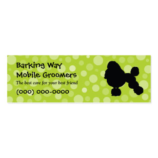 Poodle Pet Care Lime Pack Of Skinny Business Cards