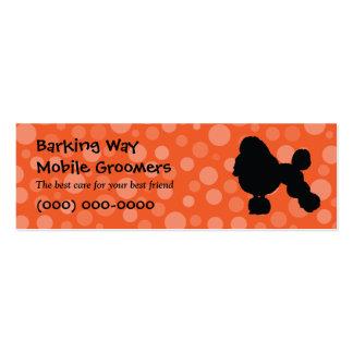 Poodle Pet Care Orange Business Cards