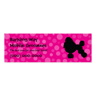 Poodle Pet Care Pink Business Cards