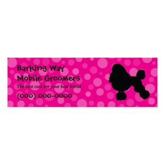 Poodle Pet Care Pink Mini Business Card