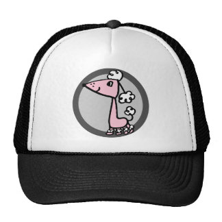 POODLE pink and gray Trucker Hat