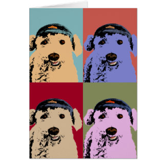 Poodle Pop Art Card