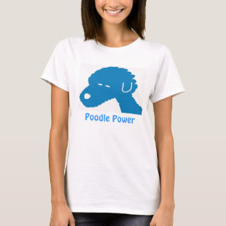Poodle Power Blue Dog T-Shirt