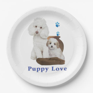 poodle-products paper plate