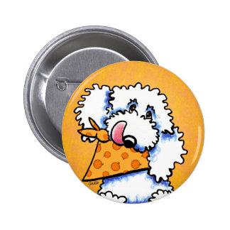 Poodle Pumpkin Eater Off-Leash Art™ Button