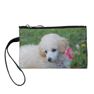 Poodle puppy baguettes change purse