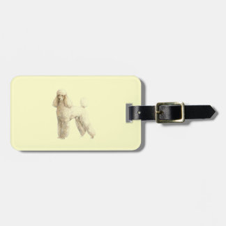 Poodle -- Puppy Clip Luggage Tag