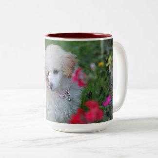 Poodle puppy coffee mug