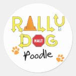 Poodle Rally Dog Round Sticker