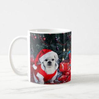 Poodle santa - christmas dog - santa claus dog coffee mug