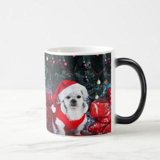 Poodle santa - christmas dog - santa claus dog magic mug