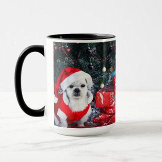 Poodle santa - christmas dog - santa claus dog mug