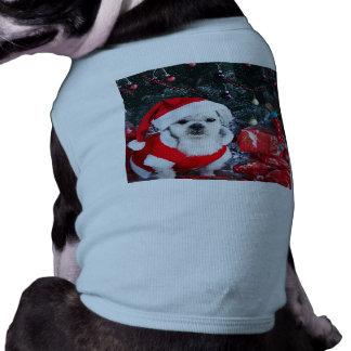 Poodle santa - christmas dog - santa claus dog shirt