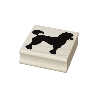 poodle silhouette art stamp