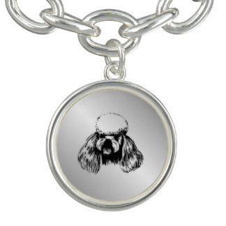 Poodle Silver Charm Bracelet