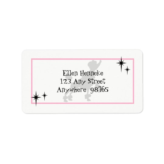 Poodle Skirt Fun Label