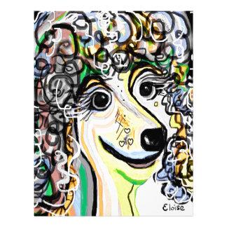 Poodle Soft Pastel Color Palette Letterhead