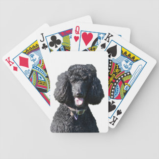 Poodle Standard dog black beautiful photo gift Bicycle Playing Cards