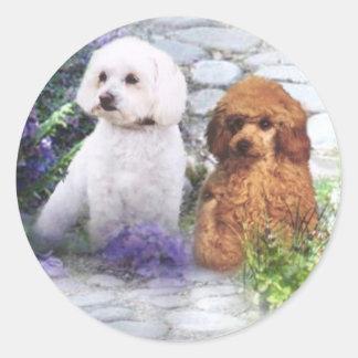Poodle Sticker Hydrangeas