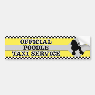 Poodle Taxi Service Bumper Sticker