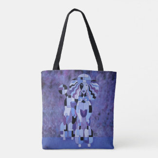 Poodle Tote Bag - Purple