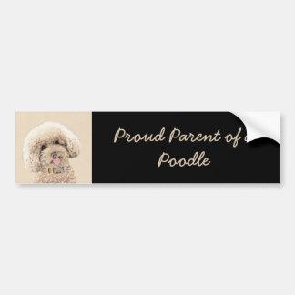 Poodle (Toy, Miniature) Painting Original Dog Art Bumper Sticker