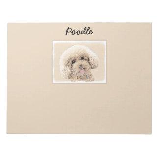 Poodle (Toy, Miniature) Painting Original Dog Art Notepad