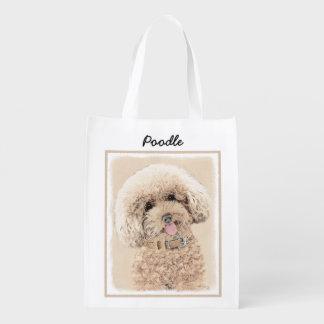 Poodle (Toy, Miniature) Painting Original Dog Art Reusable Grocery Bag