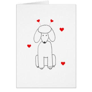 Poodle Valentine Ears Card