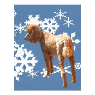 POODLE WITH SNOW FLAKES LETTERHEAD DESIGN