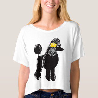 Poodle with Yellow Bow Women's Bella Boxy Crop Top