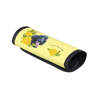 Poodle with Yellow Roses Luggage Handle Wrap