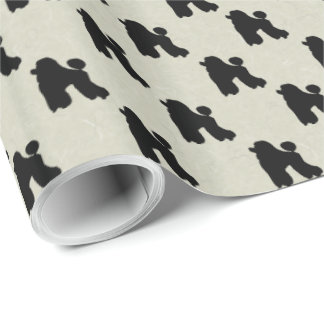 Poodle wrapping paper